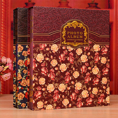 320Pockets*6inches / 200Pockets*8inches Slip In Photo Album with Gold Foil