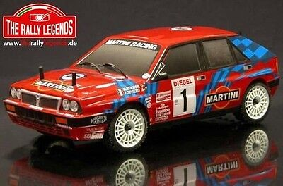 The Rally Legends Karosserie Lancia Delta, rot lackiert, 1:10 Rally #EZRL2323/R