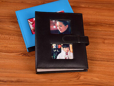 200 Pockets Beautiful Leather Slip In Photo Album 6 Inches Photos - 4 Colors