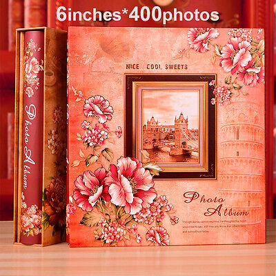 400 Pockets Slip In Photo Album 6 Inches Photos - 2 Designs