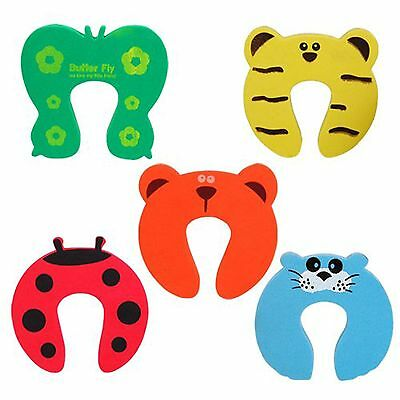 5 Child Baby Kids Animal Safety Door Guard Stoppers Finger Protector Jammer