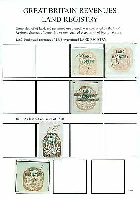 Great Britain Revenues Land Registry. 1862-1974. Mint & used selection...