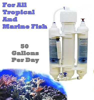 Finerfilters 3 Stage Reverse Osmosis Unit - Tropical Fish Marine Discus 50GPD