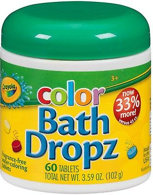 Crayola Color Bath Dropz 60 ea