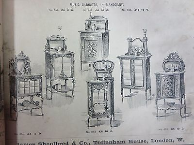 James Shoolbred & co. London Printed Victorian Furniture catalog Extremely Rare