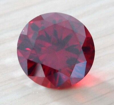 Wholesale! AAAAA Dazzling Red Ruby Round Faceted Cut VVS Loose Gemstone