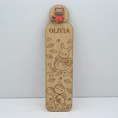 Personalized Forest Friends Bookmark - Any name, great gift for kids