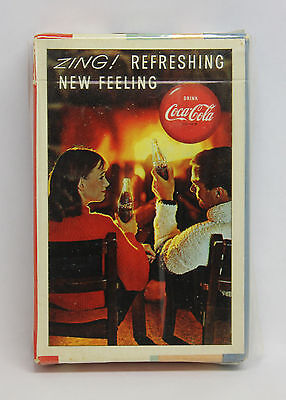 """Vtg Coca Cola Playing Cards Deck """"Zing"""" Fireside- NOS Unopened (See Discription)"""