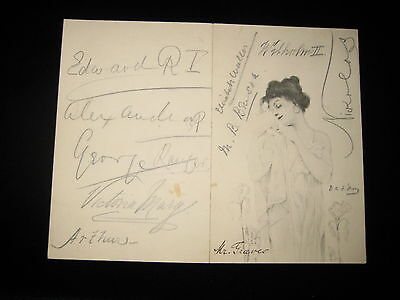 Tsar Nicholas Alexandra King Edward Wilhelm Antique Royal Autograph Collection