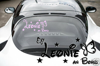 Baby sticker Car decal baby + NAME NAME Baby On Board Adhesive Car N1