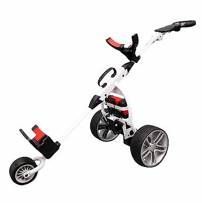Score Industries Golftrolley spina rosso Trolley Mocad 3.5, Bianco, 35053 (M1o)