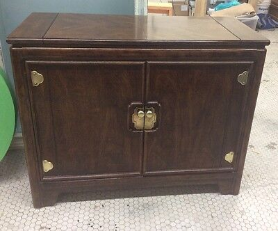 THOMASVILLE Mystique  Chinese Ming Style Server Bar Cabinet Fold Out