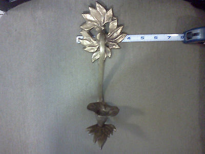 Bronze wall candle holder Antique vintage hand made. Signed