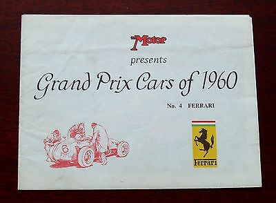 1960 FERRARI GRAND PRIX CARS - DINO 246 - 6-pg folder/poster  MICHAEL TURNER Art