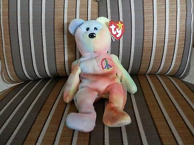Ty Peace Beanie Babies , Pvc ,china Never Played With, All Tags