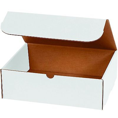WHITE CORRUGATED MAILERS MANY SIZES Fold Together Shipping Packing Boxes Mailers