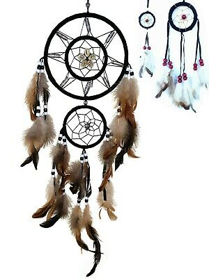 Handmade Dream Catcher with feather wall hanging decoration ornament-5rb