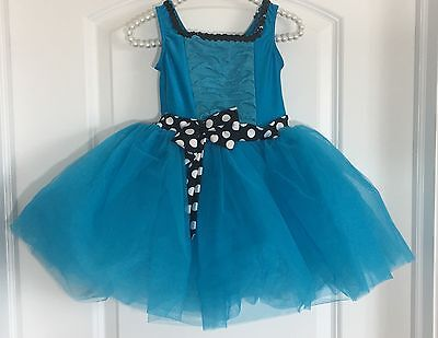 Revolution Toddler Ballet Tutu Dance Leotard Teal Blue Black White Polka Dot