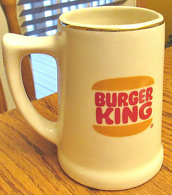 Vintage 1971 Burger King Mug Gold Trimed Boy Scouts St Louis Mo