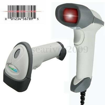 Wired Laser Barcode Bar Code Scanner Handheld Reader Decoder & USB Cable For POS