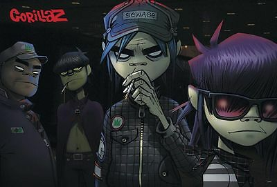 "GORILLAZ THE POSTER 24""x36 INCH MUSIC ROCK CONCERT NEW 1 SIDE SHEET WALL J-4910"
