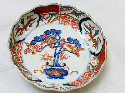 Antique Vintage Chinese Hand Painted Porcelain Imari Bowl Plate
