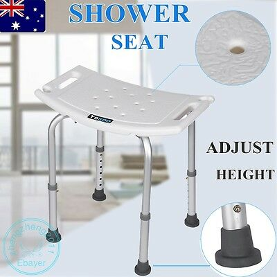 Aluminium Sturdy Adjustable Bath Shower Seat Chair Stool Bench Safety Shower Aid