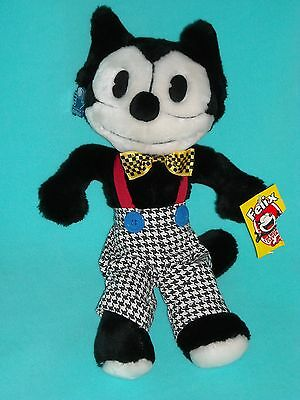 "15"" w/ TAGS 1988 FELIX the CAT APPLAUSE STUFFED ANIMAL PLUSH TOY"