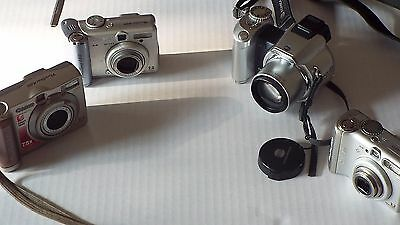 Lot 4 Digital Cameras parts or repair
