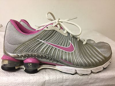 a219f508154 NIKE SHOX EXPERIENCE Zoom White Running Shoes 318685-161 Womens Size ...