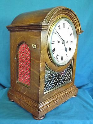 Fab Double Fusee Bracket Clock Of Small Size.