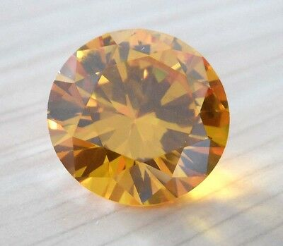 Wholesale! AAAAA Dazzling Yellow Sapphire Round Faceted Cut VVS Loose Gemstone