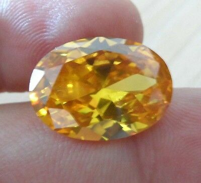 Wholesale! AAAAA Dazzling Yellow Sapphire Oval Faceted Cut VVS Loose Gemstone