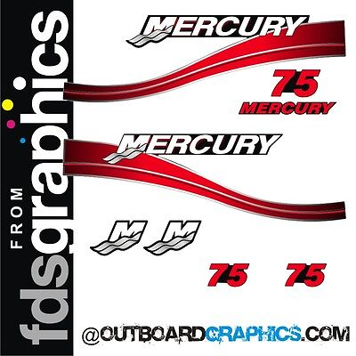 Mercury 75hp two stroke outboard sticker/decal kit