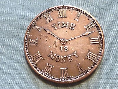 Rare 1899 Token With Clock Face Image - George Allers, Jeweler - Item 103