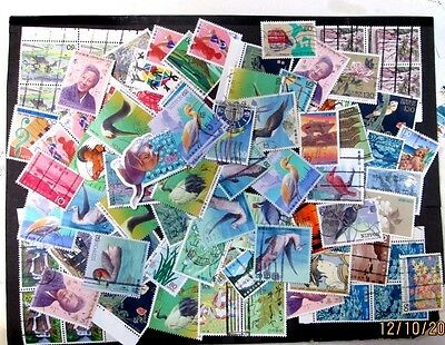 JAPAN MODERN MIX OF ALL LARGE SIZED PICTORIALS, USED 15 GRAMS/1/2 oz OFF PAPER