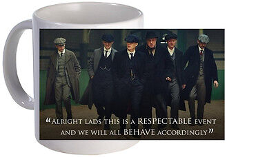 Peaky Blinders Quote Cast Mug. Brand New.