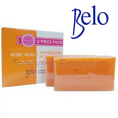 Belo Intensive Whitening Bars Kojic Acid Tranexamic Acid Soaps 2 x 65g