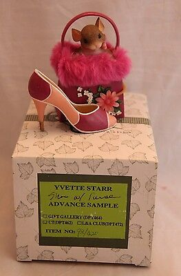 "Charming Tails Advance Sample 2005 Signed Dean Griff ""shoes W/ Purse"" 89/192 Iob"