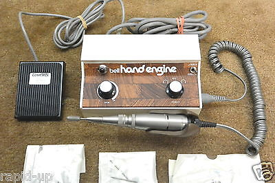 BELL INTERNATIONAL HAND ENGINE Complete Tested Medical Dental Drill with Bits
