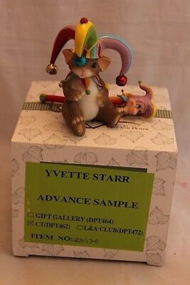 "Charming Tails Advance Sample Signed  Dean Griff ""jester Mouse"" 82/120 Iob"