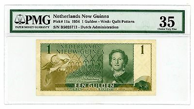 Netherlands New Guinea ... P-11a ... 1 Gulden ... 1954 ... *VF-XF*