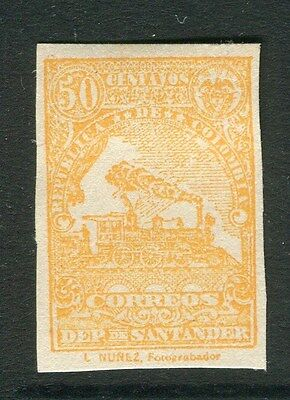 COLOMBIA SANTANDER 1905 early classic Imperf issue 50c. Mint hinged