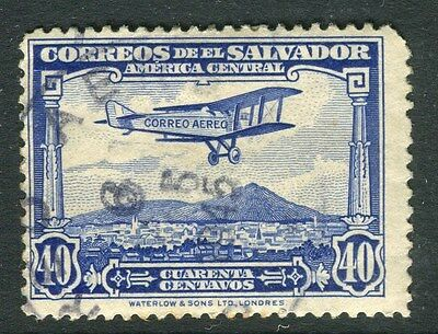 EL SALVADOR;  1930 early AIR issue fine used 40c. value