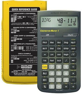 Calculated Industries Construction Master 5 Calculator 4050 Metric Conversion