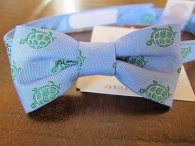Janie and Jack Layette Blue Green Turtle Bow Neck Tie 0 3 6 12 18 24 Months NWT