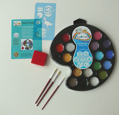 NEW Ava and Frank Face and Body Painting Kit for Kids & Professionals parties