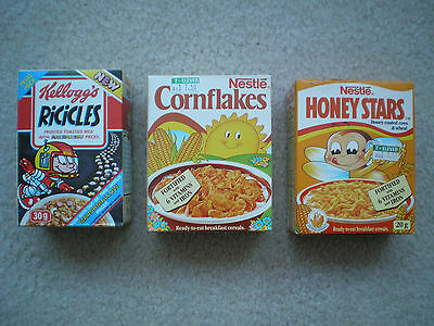 3 Foreign Sample Cereal Boxes Kellogg's Nestle 1992