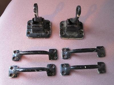 Antique WINDOW HARDWARE for Stained Glass Art Panel UNIQUE