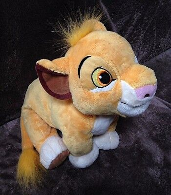 "Cuddly Soft Disney Parks ""SIMBA"" The Lion King Plush Stuffed Toy 13 Inches Long"